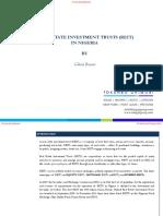 Real Estate Investment Trust in Nigeria
