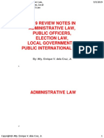 2019 Bar Reviewer in Administrative Law, Law on Public Officers, local Government Election Law, and Public International Law by Atty. Enrique Dela Cruz