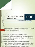 Rizal's Life, works and writings