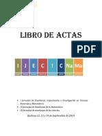 Libro de Actas I JECICNAMA BeRNAL 2013
