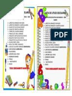 Lista Prescolar Campo Nuevo