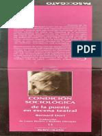 la condicion sociologica de la pueata en escena Bernard Dorn