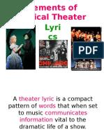 Elements of Musical Theater-Lyrics.ppt