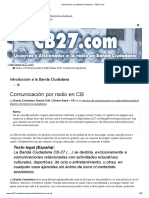 2. Que Es La Banda Ciudadana, CB-27 o La Banda de Los 11 Metros