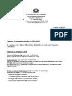 Circolare Avvio Anno Scolastico Salvo Basso 2019-20