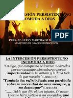 la intercecion persistente no incomoda a Dios