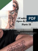 Eustiquio Lugo - ¿Cuáles Son Los Tipos deTatuajes?, Parte II