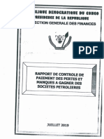 Rapport IGF Sur les Decote Produit Petrolier (RDC)