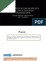 8. Instrumentos de Evaluación en El Área Clínica, Educativa ,Organizacional