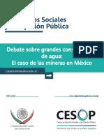 Minería y Agua en México CESOP