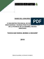 Bases IV Encuentro Provincial de Innovaciones 2019