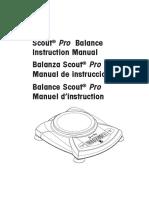 Manual Balanza 4000g