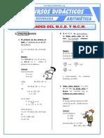 Propiedades Del MCD y MCM Para Cuarto de Secundaria (1)