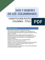 Derechos y Deberes de Los Colombianos