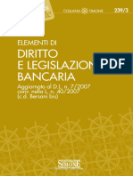 Elementi Di Diritto e Legislazione Bancaria