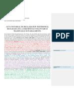 (Acta de Declaracion de Testigo modelo Guatemala