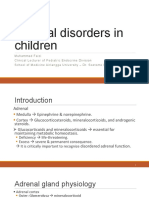 Adrenal disorders in children