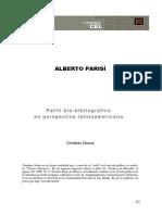 Perfil biobiliográfico de Alberto Parisí