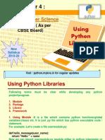 Using Python Libraries
