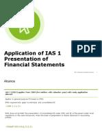 IAS 1 Presentation Financial Statements 2019