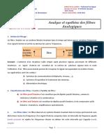 Analyse et synthèse des filtres Analogiques