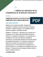 Acuerdo No Competencia México