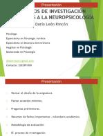 Metodos de Investigacion Aplicados a La Neuropsicologia