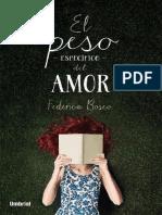 Peso Especifico Del Amor. El Federica Bosco