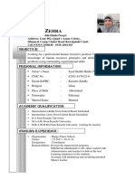 Job Cv Kiran Zehra (Pharma)