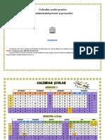 Calendar Öcolar