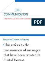 Electronic Communication for CSEC EDPM