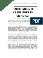 Participacion de las mujeres en Quimica (Revision)