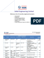 Engineering -L&T - Valdel - EXPERIENCE LIST Upstream Engg