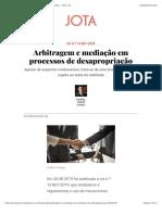 Arbitragem e mediação em processos de desapropriação - JOTA Info