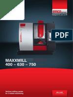 Vertical Milling Center MAXXMILL 400 630 750