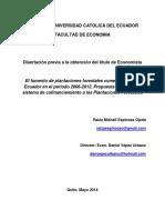 Realidad de Los Programas de Reforestación en Ecuador