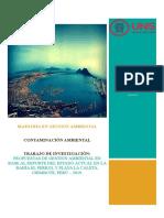 Monitoreo calidad ambiental marina de la bahía El Ferrol de Chimbote, Santa, Perú