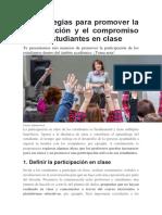 6. estrategias para promover la participación y el compromiso de los estudiantes en clase