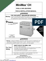 Manual de calentador Minimax CH