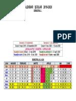 Calendar Scolar 2019 - 2020
