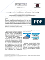 Modeling of Surface Zone Influences in Generating Gear Grinding