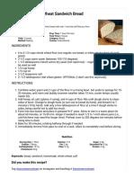 Easy, Soft 100% Whole Wheat Sandwich Bread Tutorial _ an Oregon Cottage