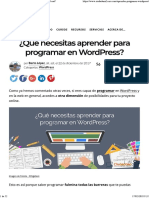 Programar en Wordpress