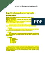 U1A4. Beneficios, Errores y Directrices de La Planeación Estratégica