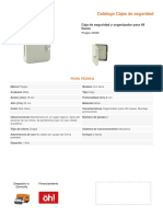 Ficha Tecnica Caja Seguridad Llaves