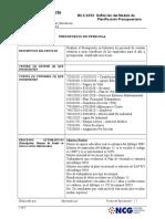 Definición Modelo Futuro - Presupuesto Personal IV