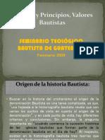 Historia y Principios, Valores Bautistas - Copia