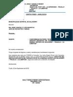Carta de Conformidad de Villa Marina Angelo