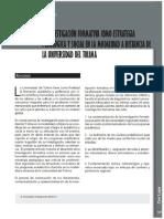 La investigacion formativa como estrategia pedagógica.