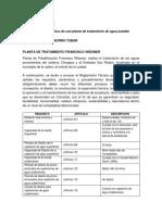 DIAGNOSTICO DE UNA PLANTA DE TRATAMIENTO